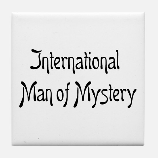 mystery man Tile Coaster