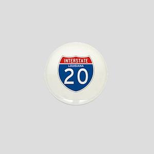 Interstate 20 - LA Mini Button