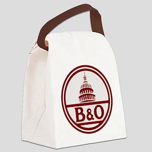B&O railroad design Canvas Lunch Bag