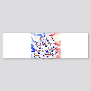 Red, White and Blue Christmas Bumper Sticker