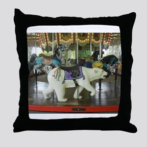 Life is a Merry-Go-Round Throw Pillow