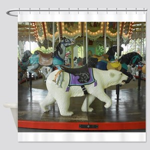 Life is a Merry-Go-Round Shower Curtain