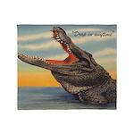 Vintage Alligator Throw Blanket