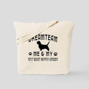 Petit Basset Griffon vendeen Dog Designs Tote Bag