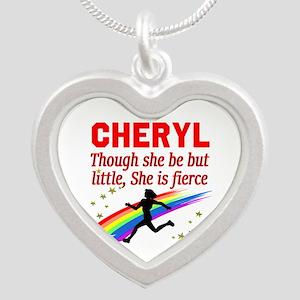 RUN TRACK Silver Heart Necklace