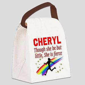 RUN TRACK Canvas Lunch Bag
