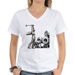 Women's V-Neck T-Shirt (white)