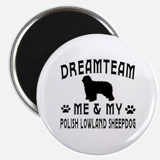Polish Lowland Sheepdog Dog Designs Magnet