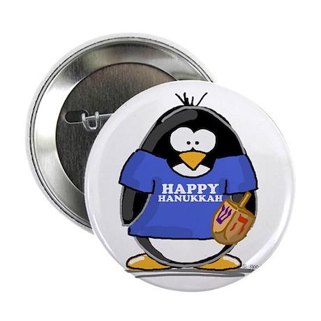 """Happy Hanukkah Penguin 2.25"""" Button (10 pack)"""