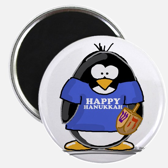 Happy Hanukkah Penguin Magnet