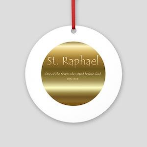 St. Raphael Ornament (Round)
