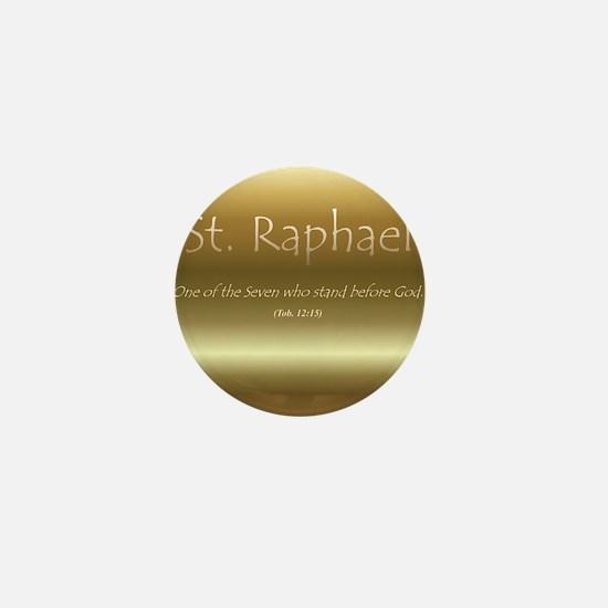 St. Raphael Mini Button