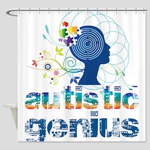 Autistic genius Shower Curtain