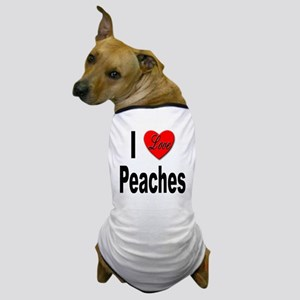 I Love Peaches Dog T-Shirt