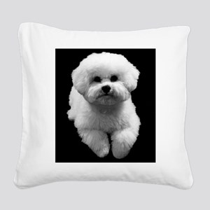 Beau the Beautiful Bichon Square Canvas Pillow