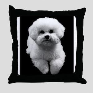 Beau the Beautiful Bichon Throw Pillow