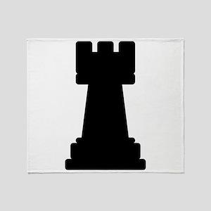 Chess Piece Rook Throw Blanket