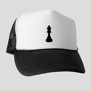 Black King Chess Piece Trucker Hat