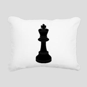 Black King Chess Piece Rectangular Canvas Pillow