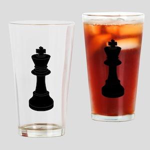 Black King Chess Piece Drinking Glass