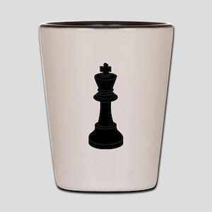 Black King Chess Piece Shot Glass