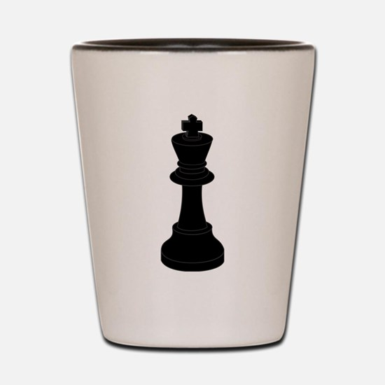 Black King Chess Piece Shot Glass