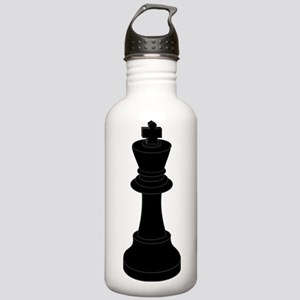 Black King Chess Piece Water Bottle