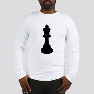 Black King Chess Piece Long Sleeve T-Shirt