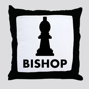 Chess Bishop Throw Pillow