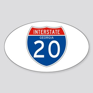 Interstate 20 - GA Oval Sticker