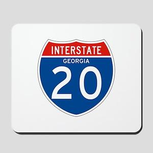 Interstate 20 - GA Mousepad