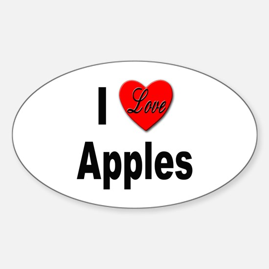I Love Apples Oval Decal