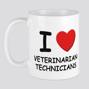 I Love veterinarian technicians Mug
