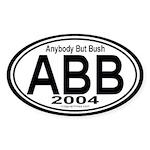 Anybody But Bush 2004 Auto Sticker (Oval