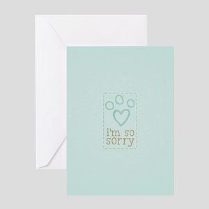 Pet Loss Sympathy Blue Greeting Card