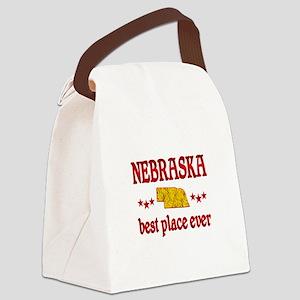 Nebraska Best Canvas Lunch Bag