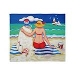 Mr Sandman Beach Seashore Throw Blanket