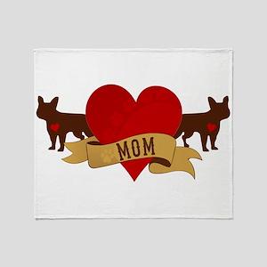 French Bulldog Mom Throw Blanket