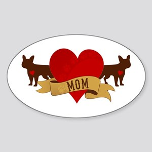 French Bulldog Mom Sticker (Oval)