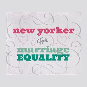 New Yorker for Equality Throw Blanket
