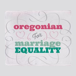 Oregonian for Equality Throw Blanket