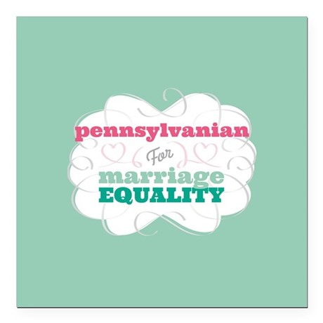 """Pennsylvanian for Equality Square Car Magnet 3"""" x"""