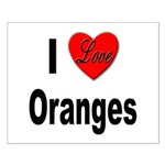 I Love Oranges Small Poster