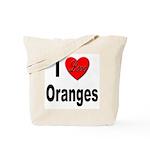 I Love Oranges Tote Bag