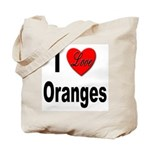 I Love Oranges Tote Bag