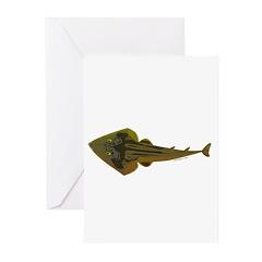 Guitarfish Ray fish Greeting Cards (Pk of 10)