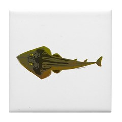 Guitarfish Ray fish Tile Coaster