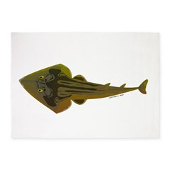 Guitarfish Ray fish 5'x7'Area Rug