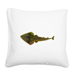 Guitarfish Ray fish Square Canvas Pillow