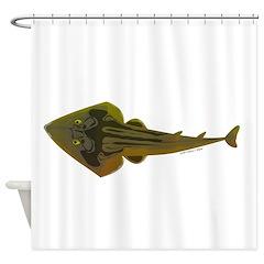 Guitarfish Ray fish Shower Curtain